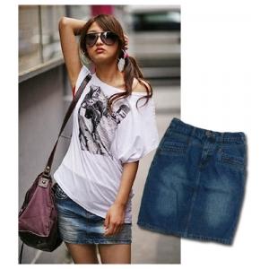 С чем носить джинсовую юбку?